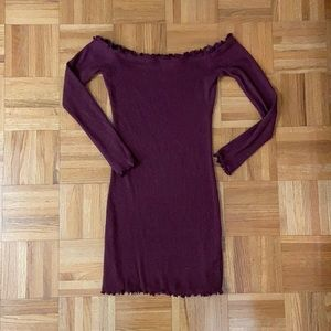 Bodycon across-the-shoulder dress